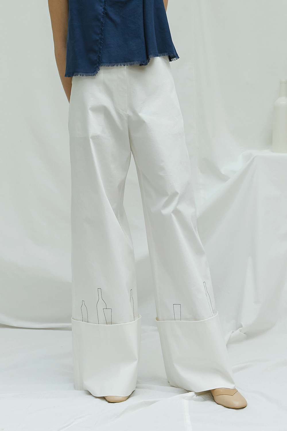 [season off -50%] SS17 BOTTLE WIDE PANTS