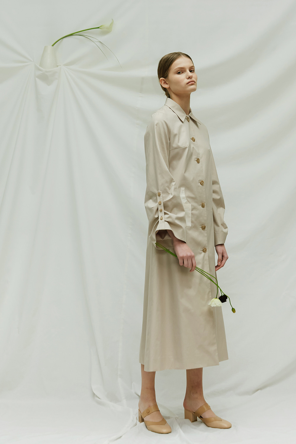 [season off -50%] SS17 VASE LONG TRENCH COAT