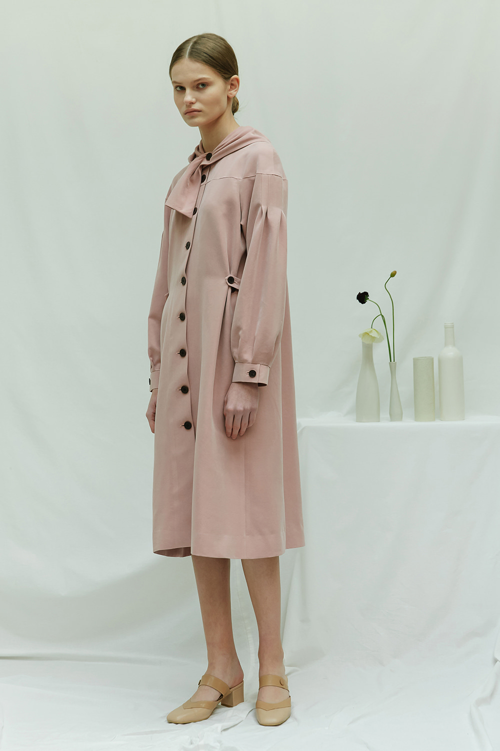 [season off -50%] SS17 SCARF COLLAR COAT
