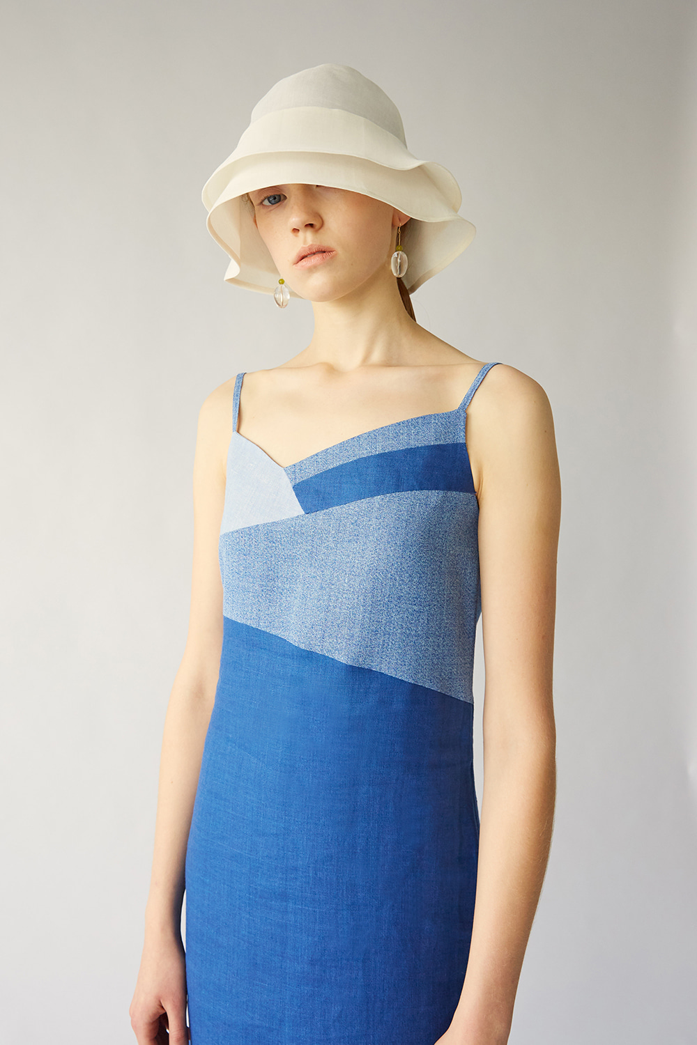 SS19 LANDSCAPE LINEN STRAP DRESS