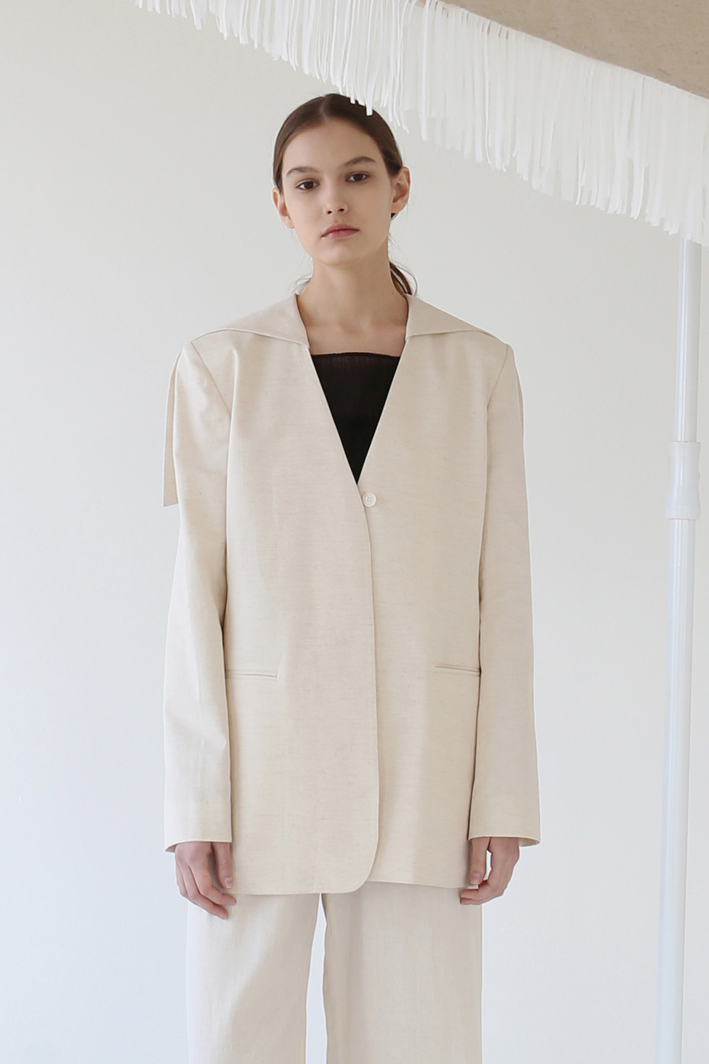 20SS 2-WAY SAILOR LINEN JACKET (NATURAL BEIGE)