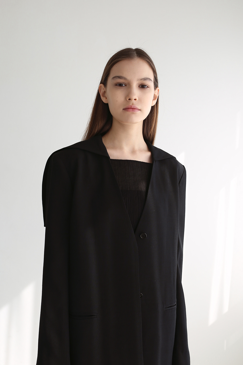 20SS 2-WAY SAILOR LINEN JACKET (BLACK)