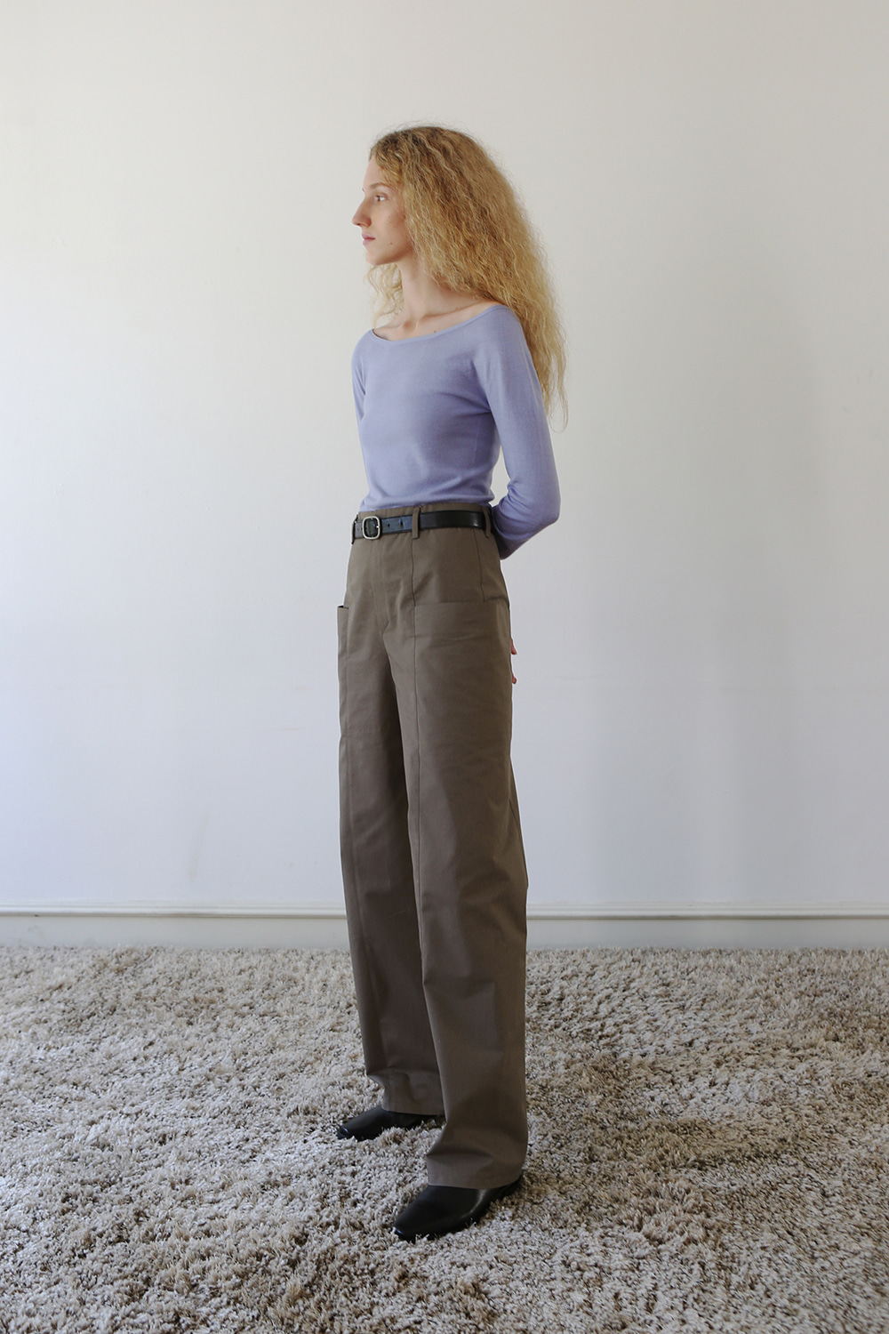Joan Pocket Cotton Pants (khaki brown)