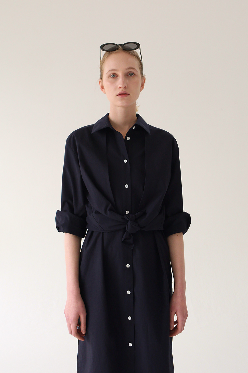 Charlotte Shirt Dress (navy)