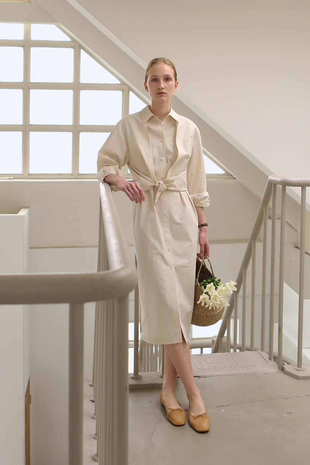 Charlotte Shirt Dress (cream)