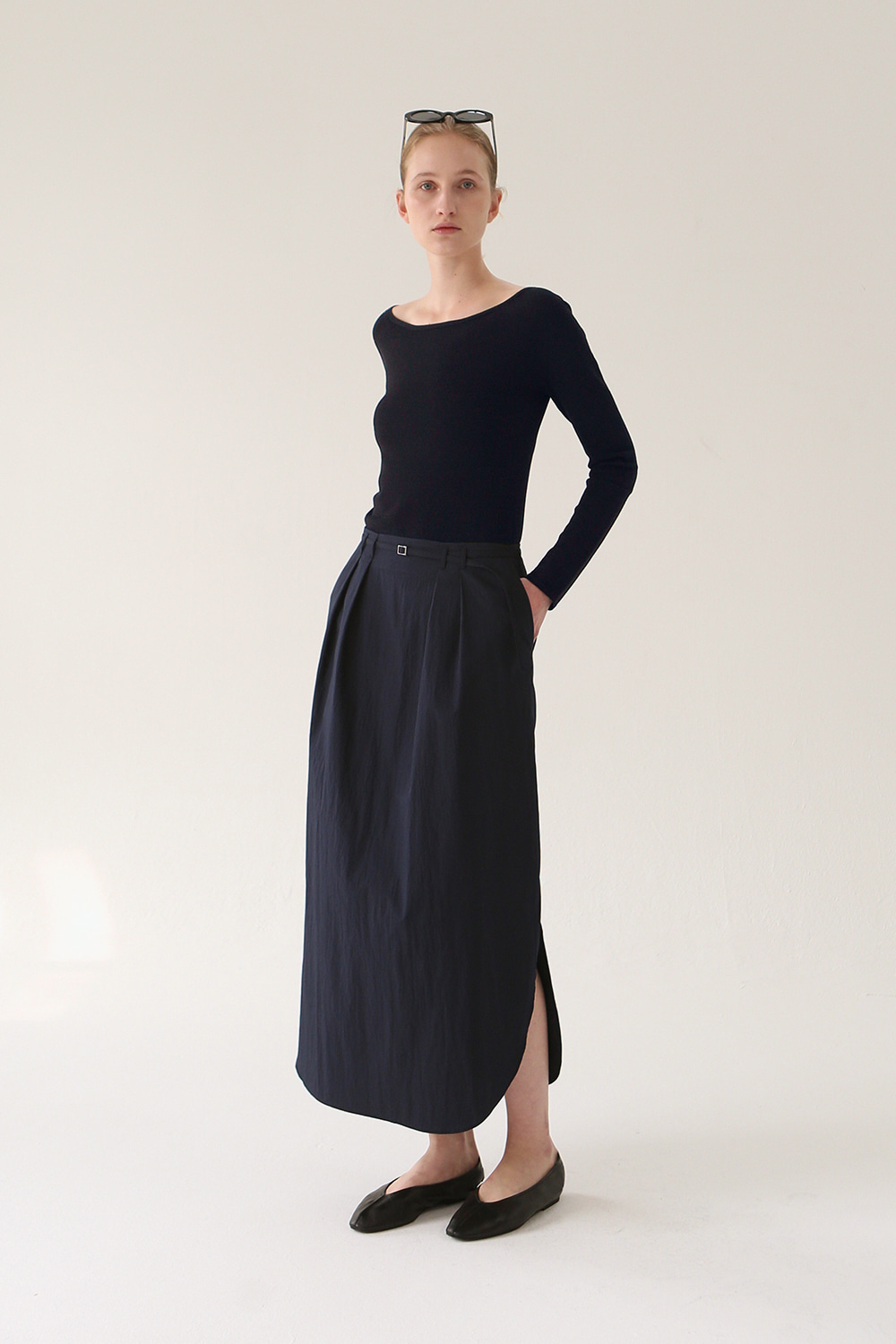 Manon Cotton Skirt (navy)